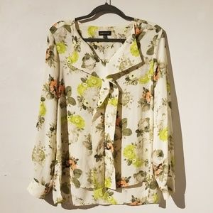 Lord & Taylor Spring Floral Blouse NWOT Size M